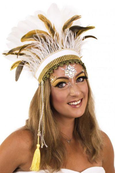 Indianen dans veren hoofdtooi Arapaho