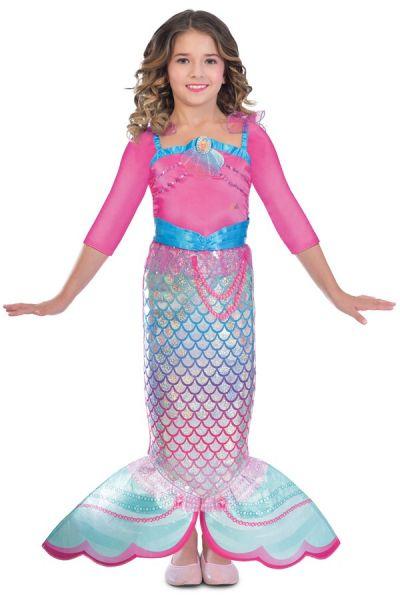 Barbie Zeemeermin Rainbow jurk meisje