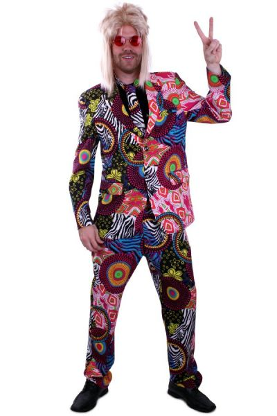Groovy disco costume of colorful touch