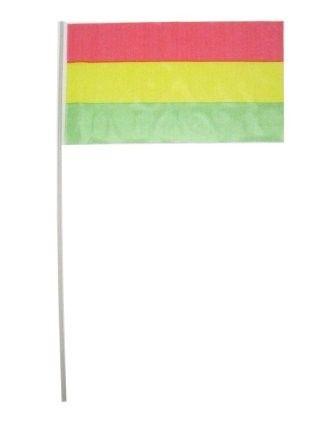 Vlaggetjes op stok rood geel groen