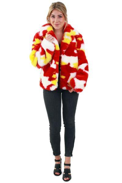 Damesbontjas camouflage rood wit geel Oeteldonk