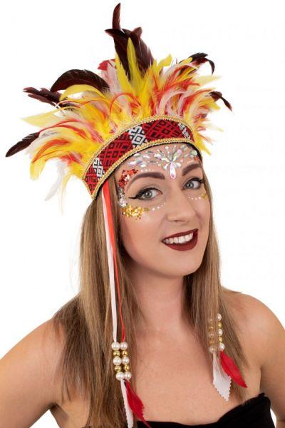 Indianen dans veren hoofdtooi El Boscha