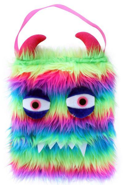 Schoudertas monster fluorkleuren