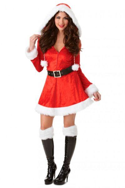 Sexy Kerstjurkje met rode capuchon