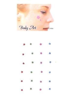 Fancy gezicht en body jewel sterren