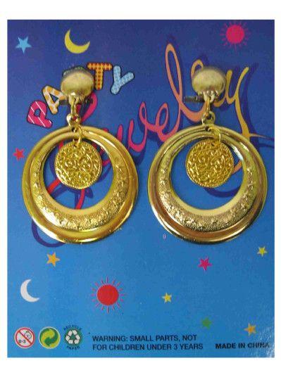 Paar oorringen met 1 ring 1 muntje
