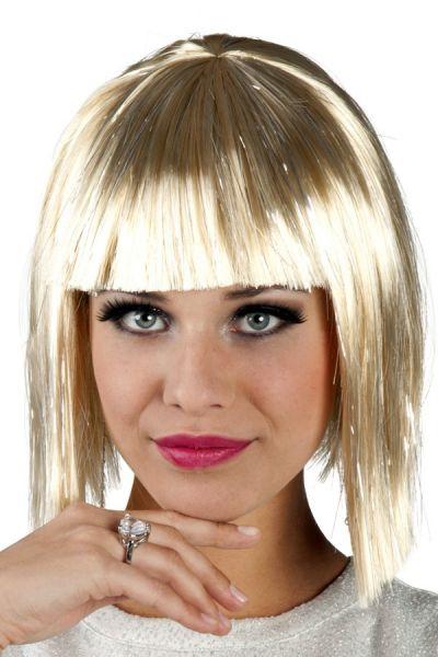 Pruik Glamour blond met zilver tinten
