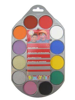 Schminkpalet aqua schmink 12 kleuren