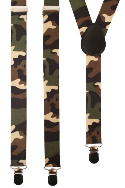 Soldaten bretels camouflage