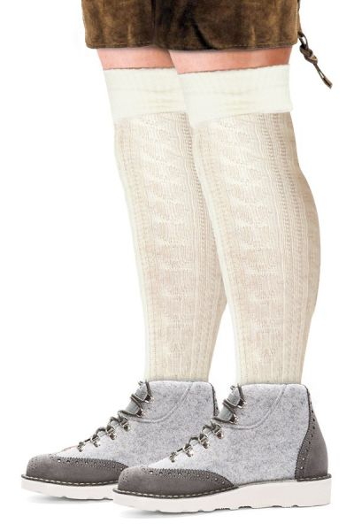 Oktoberfest Tiroler sokken lang ecru