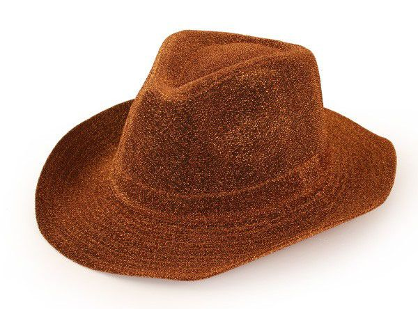 Cowboyhoed glitter goud