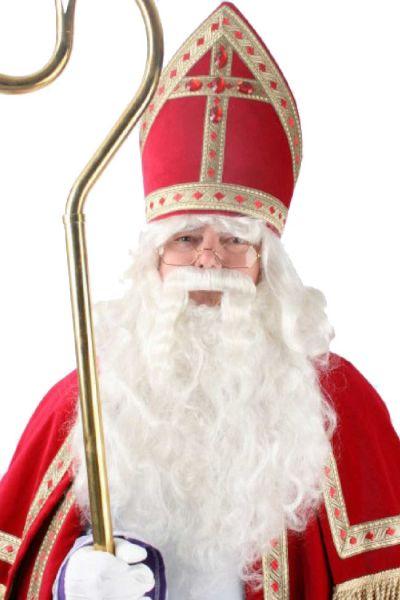 Sinterklaas pruik baard losse snor speciaal haarwerk