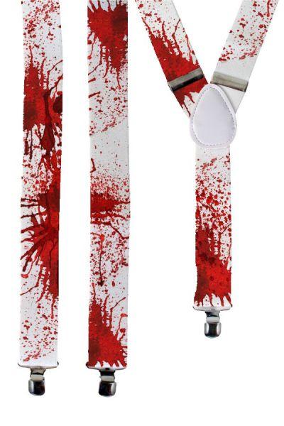 Bretel wit met bloed Halloween